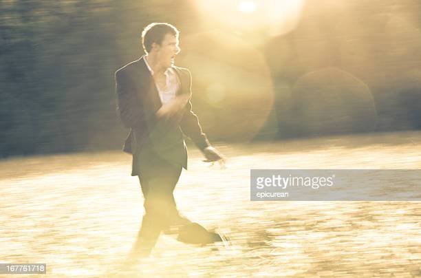 Businessman on the run