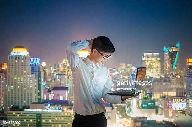 Businessman on the terrace