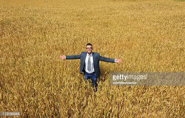 Businessman outside  harvest