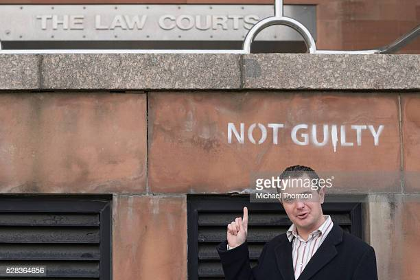 Businessman Outside The Law Courts; Newcastle Upon Tyne Tyne And Wear England