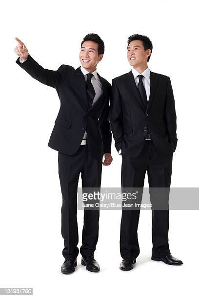 Businessman pointing the front