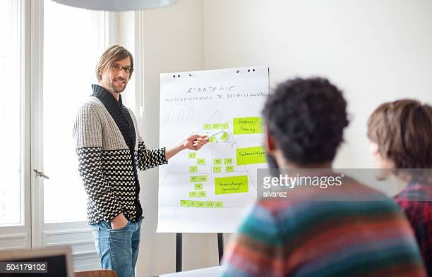 Businessman presenting his ideas to colleagues