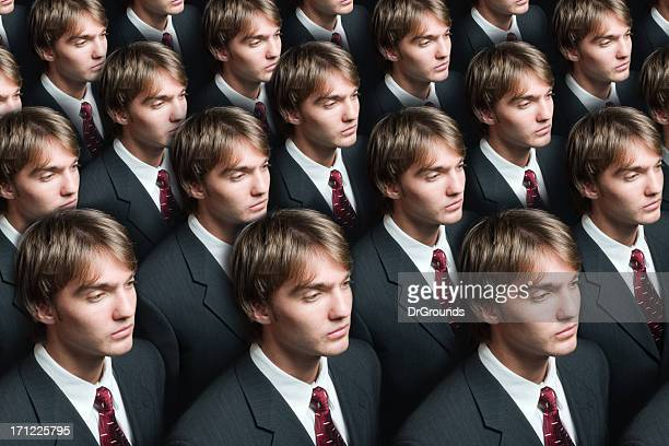 businessman production - cloning stock pictures, royalty-free photos & images