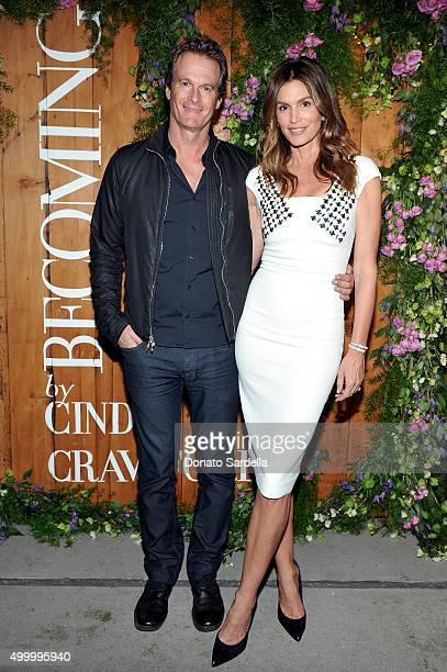 Businessman Rande Gerber and Cindy Crawford attend a book party in honor of 'Becoming' by Cindy Crawford hosted by Bill Guthy And Greg Renker at Eric...