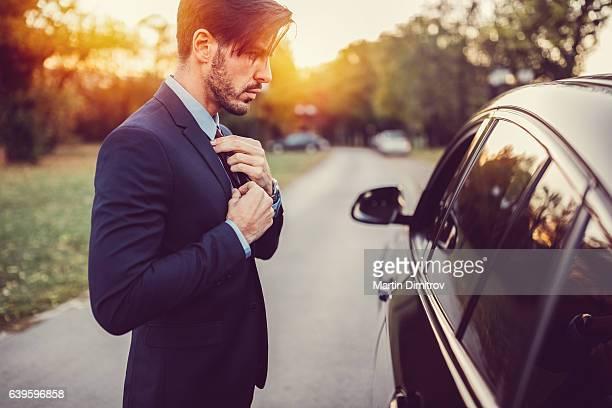 Homme d'affaires prêt pour le travail
