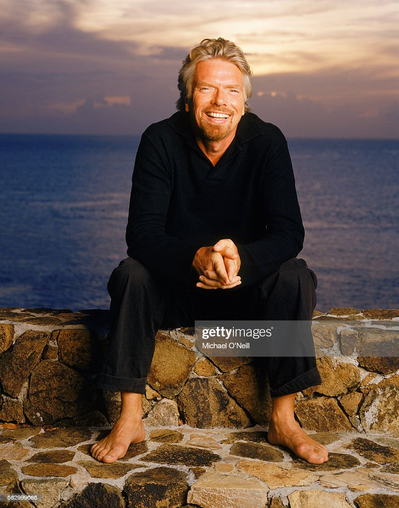 Businessman Richard Branson is photographed on Necker Island in August, 2003.