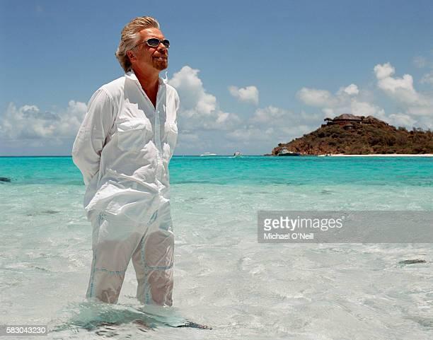 Businessman Richard Branson is photographed on Necker Island in August 2003