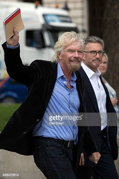 Businessman Richard Branson walks through Parliament Square on June 28 2016 in London England Mr Branson has called for a second EU referendum after...