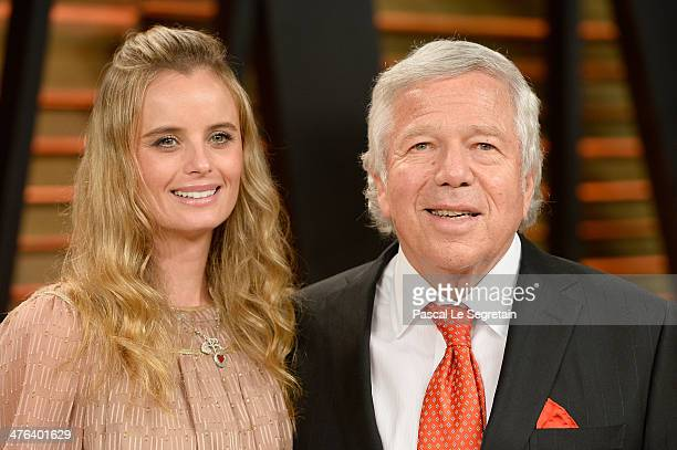 Businessman Robert Kraft and guest attend the 2014 Vanity Fair Oscar Party hosted by Graydon Carter on March 2, 2014 in West Hollywood, California.