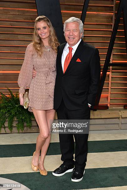 Businessman Robert Kraft and guest attends the 2014 Vanity Fair Oscar Party hosted by Graydon Carter on March 2, 2014 in West Hollywood, California.