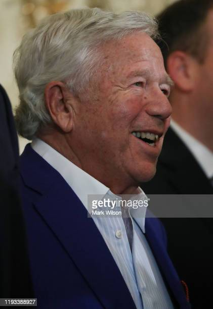 Businessman Robert Kraft attends a Hanukkah Reception in the East Room of the White House on December 11, 2019 in Washington, DC.