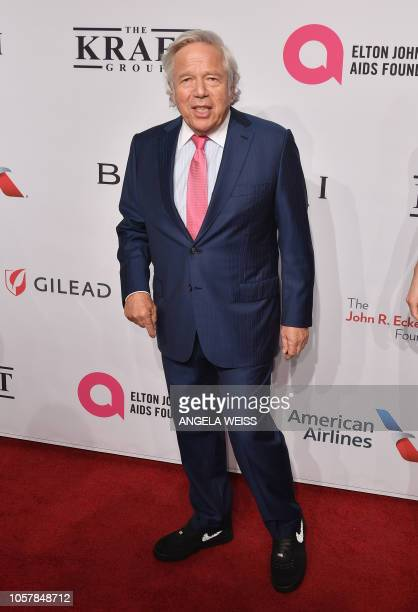 Businessman Robert Kraft attends the Elton John AIDS Foundation's 17th Annual An Enduring Vision Benefit at Cipriani 42nd Street on November 5, 2018...