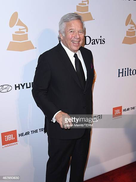 Businessman Robert Kraft attends the Pre-GRAMMY Gala and Salute To Industry Icons honoring Martin Bandier at The Beverly Hilton Hotel on February 7,...