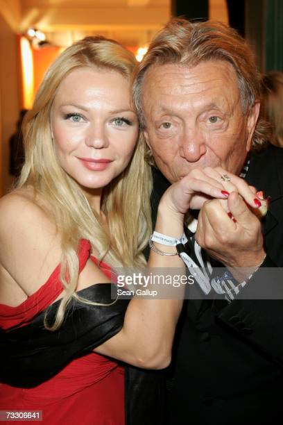 Businessman Rolf Eden and friend Brigitte attend the Cinema for Peace Charity Gala on February 12 2007 in Berlin Germany The gala is traditionally...