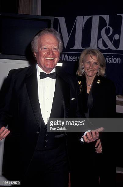 Businessman Roone Arledge attends Museum of Television an Radio Gala Honoring Alan Alda and Barbara Walters on February 8 1996 at the Waldorf Astoria...