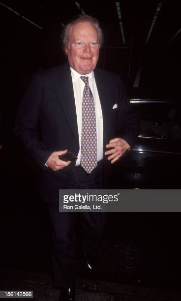 Businessman Roone Arledge attends the screening of 'Barbarians at the Gate' on March 16 1993 at the Museum of Modern Art in New York City