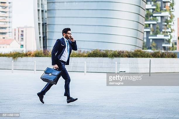 Businessman runing