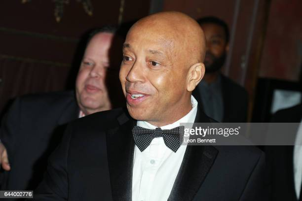 Businessman Russell Simmons arrives at the 2nd Annual All Def Movie Awards at Belasco Theatre on February 22 2017 in Los Angeles California