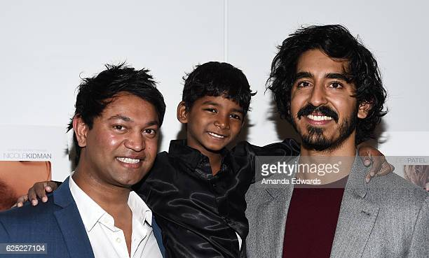 Businessman Saroo Brierley and actors Sunny Pawar and Dev Patel attend a special Los Angeles screening of The Weinstein Co's Lion at the Samuel...