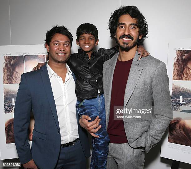 Businessman Saroo Brierley Sunny Pawar and Dev Patel attend the Los Angeles Special Screening of The Weinstein Co's Lion at Samuel Goldwyn Theater on...