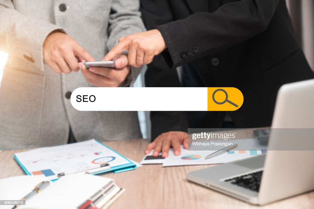 businessman SEO concept : Stock Photo