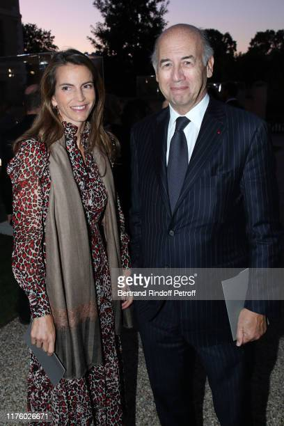 Businessman Serge Weinberg and his wife writer Felicite Herzog attend the Kering Heritage Days opening night at Kering and Balenciaga Company...