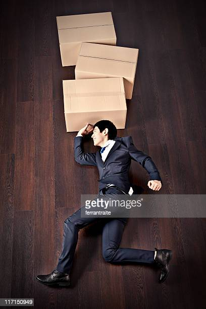Businessman Shipping Boxes