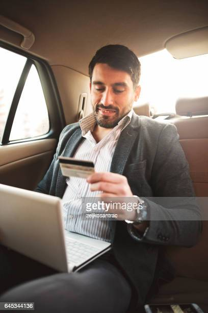 Businessman shopping with credit card