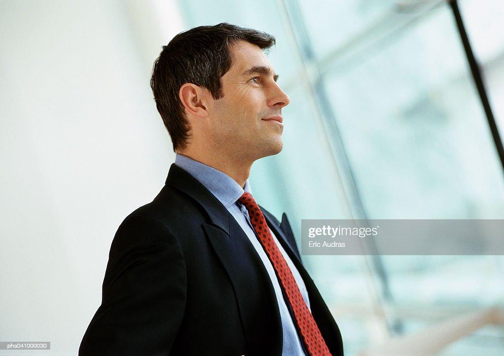 Businessman, side view : Stockfoto