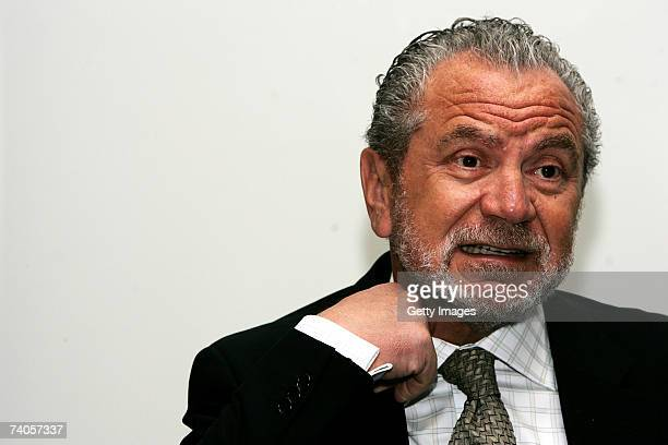 Businessman Sir Alan Sugar speaks at a press conference to launch a new computer 'Cluster' at Queen Mary University of London on May 3 2007 in London...