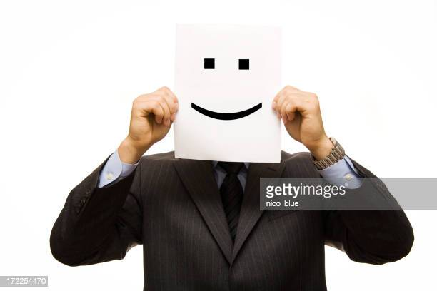Businessman smiley face