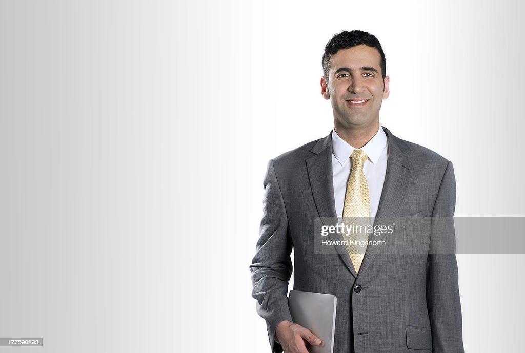 businessman smiling to camera : Stock Photo