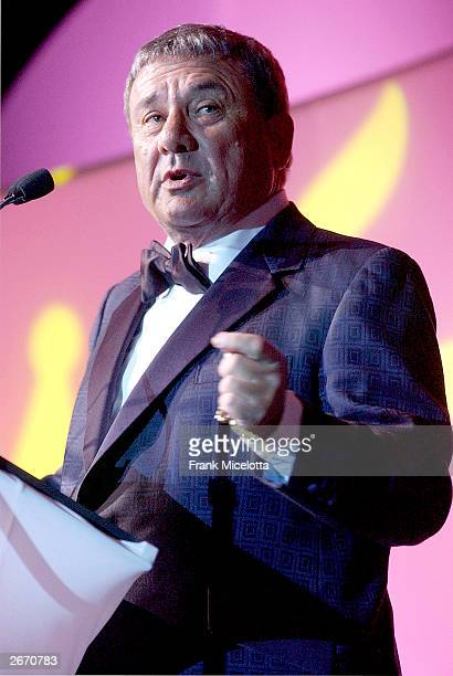 Businessman Sol Kerzner speaks during The G P Foundation For Cancer Research salutes The World of Entertainment and Media at The Angel Ball honoring...