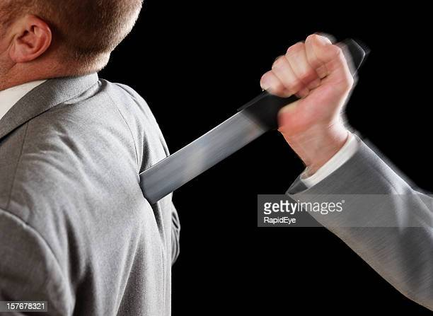 Businessman stabbed in the back