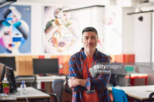 Businessman standing in start-up office