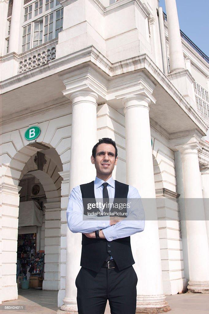 Businessman standing , INDIA , DELHI : Stock Photo