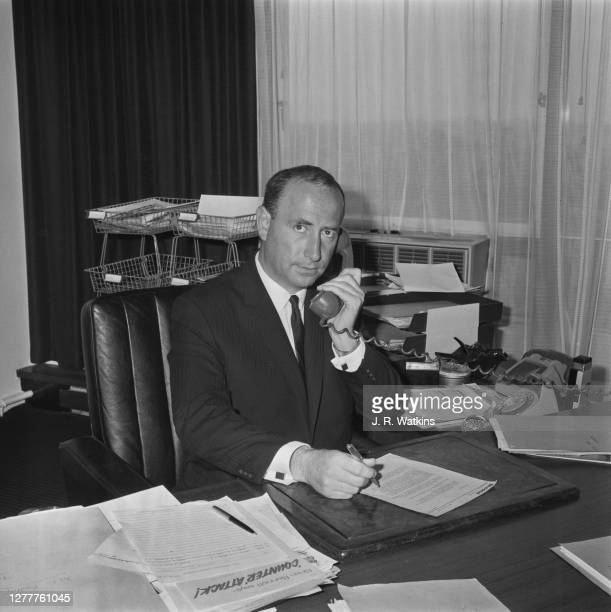 Businessman Stanley Kalms of Dixons Retail, UK, 26th March 1966.