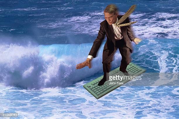 businessman surfing on internet