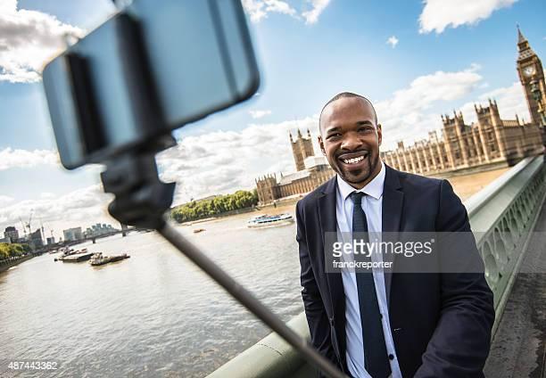 Businessman take a selfie in London
