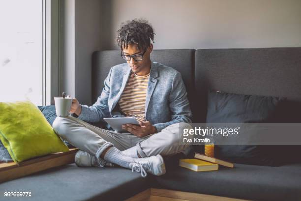 businessman taking a break - reading stock pictures, royalty-free photos & images
