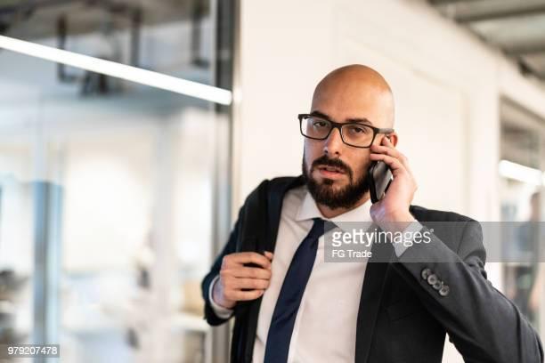 Businessman talking on mobile