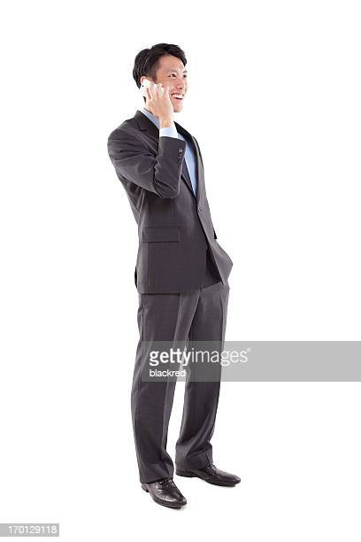 電話で話しているビジネスマン