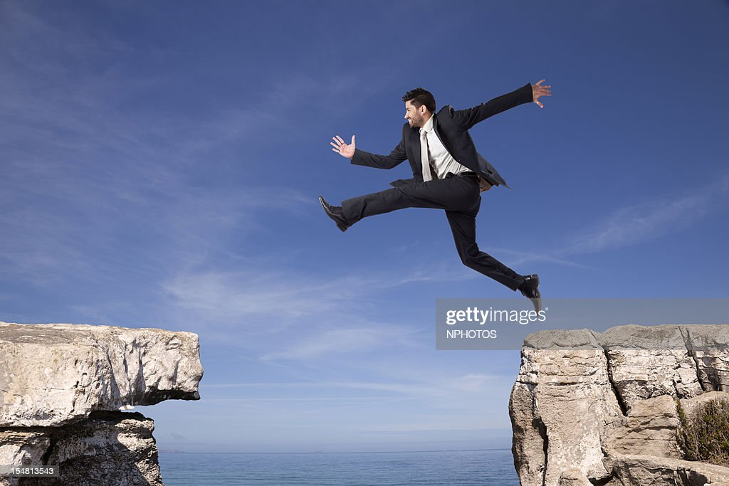 Businessman tenacity : Stock Photo