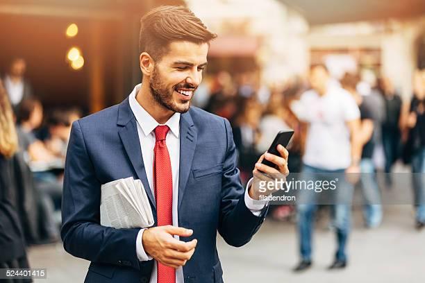 Geschäftsmann SMS