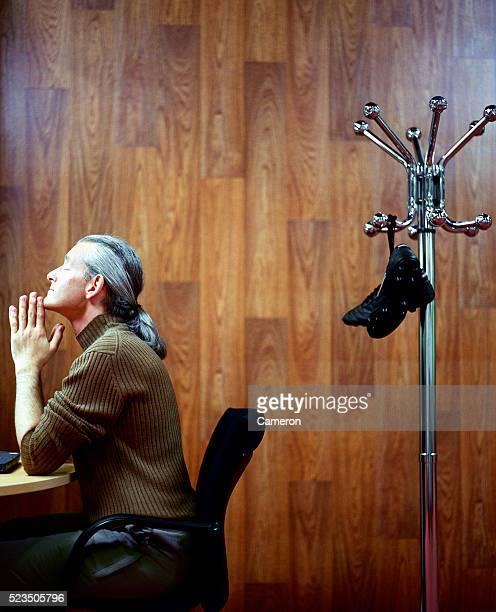 Businessman Thinking at Desk