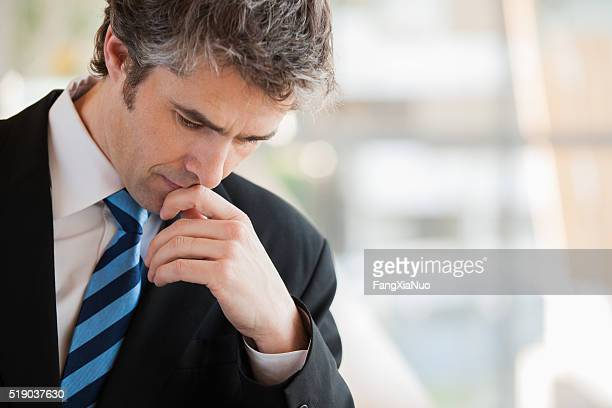businessman thinking - responsibility stock pictures, royalty-free photos & images