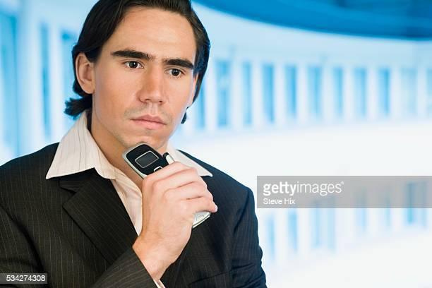 businessman thinking - mezzanine photos et images de collection