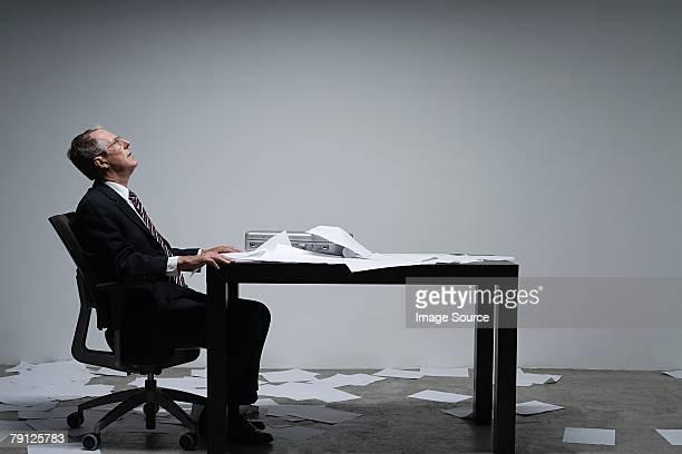 A businessman thinking