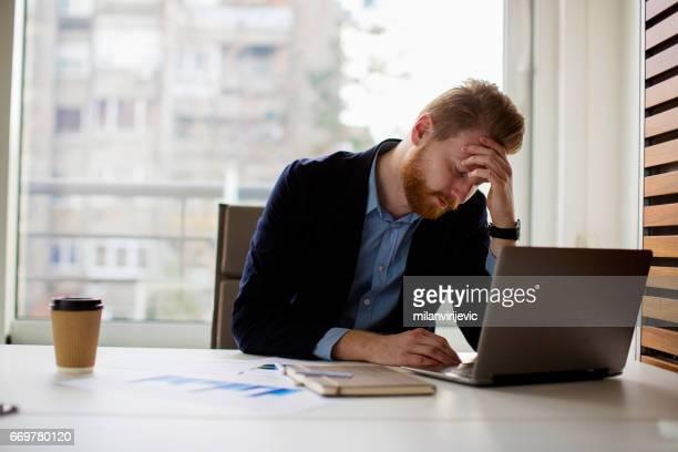 Businessman under stress