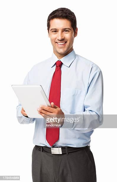 Businessman Using Digital Tablet - Isolated